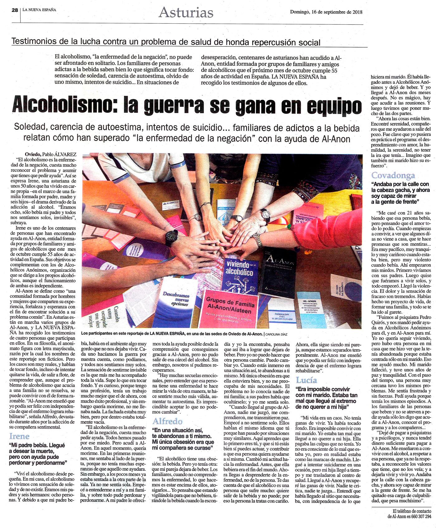 Alcoholismo: la guerra se gana en equipo
